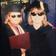 At Commencement, 1999, with the teacher who changed my life